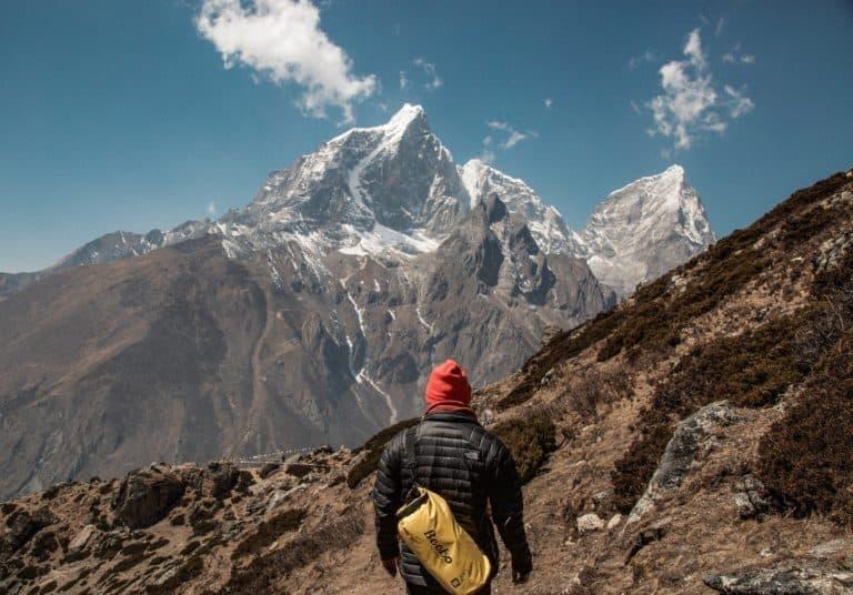 mann im Himalaya